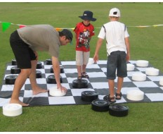 Giant Chess/Checker - Nylon Board 13' squares