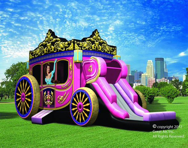 princess carriage combo party rental dallas  tx