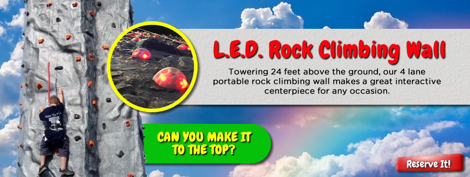 L.E.D Rock Climbing Wall