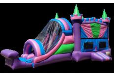 Purple Rainbow Castle Combo - 2 Lane
