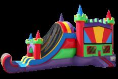 Rainbow Castle Combo - 2 Lane
